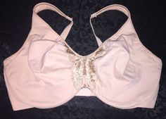 d097d143cd711 Bali Passion For Comfort Minimizer UW Bra 3642 Nude 38DDD Lace Full Coverage