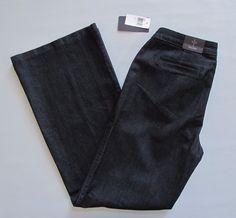 "New NYDJ Not your Daughters Jeans 12 Trouser Dark Enzyme Wide Full Leg Denim 34"" #NotYourDaughtersJeans #WideLeg"