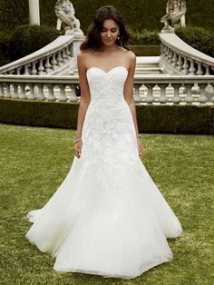 White wedding dress. All brides dream about finding the most suitable wedding day, however for this they require the most perfect bridal dress, with the bridesmaid's dresses complimenting the brides dress. Here are a few suggestions on wedding dresses.