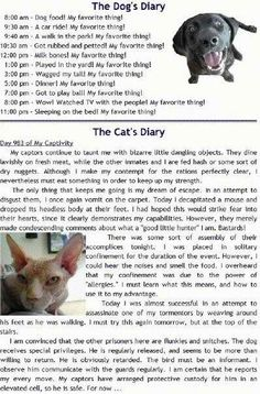I had read this a while ago. So glad I found it again. It'S exactly how a cats mind works AND a dog!