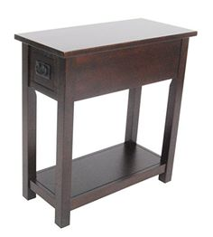 Michael Anthony Frances Bay Espresso Chairside Table