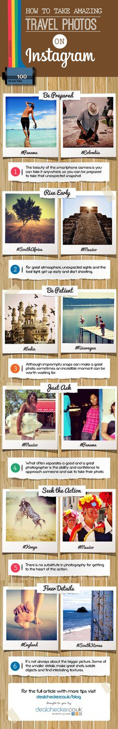 How to Take Amazing Travel Photos on #Instagram #infographic