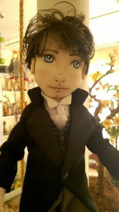 """Bonecas de pano. Damas antigas.  """"Inspirado em Orgulho e Preconceito (Mr Darcy e Elizabeth Bennet)"""".  Soraia Flores."""