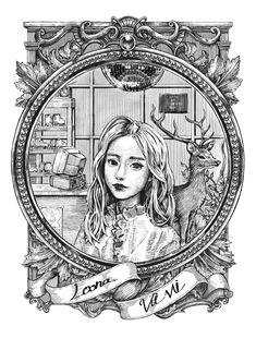 """햇칭 on Twitter: """"펜툴을 바꿨더니 느낌이 조금 달라지는듯? 연필과 볼펜 중간? #loona #이달의소녀 #vivi #비비 #loonafanart… """""""