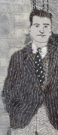 sue stone- outside the pub Modern Embroidery, Embroidery Applique, Cross Stitch Embroidery, Embroidery Patterns, Thread Art, Thread Painting, Textile Fiber Art, Textile Artists, Stitch Drawing