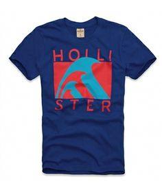 Camiseta Hollister Masculina EMERALD COVE - Azul Royal - Figo Verde - Roupas importadas originais.