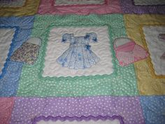 Baby Girl Quilt - Dress Up...quilted by Aubrey'sQuiltingCreations.