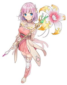 View an image titled 'Miki Sauvester Art' in our Star Ocean: Anamnesis art gallery featuring official character designs, concept art, and promo pictures. Creature Drawings, Animal Drawings, Game Character Design, Character Art, Manhwa, Star Ocean, Ocean Girl, Rena, Cute Anime Pics