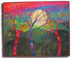 Fibermania: Make Me a Quilt  A Wonderment of Fireflies Tree ideas for anniversary quilt
