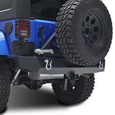 Restyling Factory JK Rear Bumper with Tire Carrier and Hitch Receiver