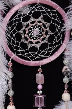 Pink Dream Catcher Tree of life pink Dreamcatcher Rose quartz Dreamсatcher wall handmade idea gift birthday marble dream catcher pink tree of life ************************************************************************* Magical properties Pink quartz for those who can not feel