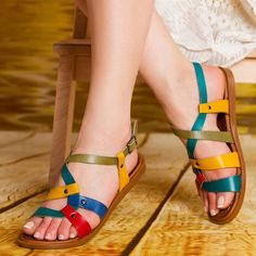 Women's Buckle Neutral Spring Summer Casual Flat Heel Under 1 inch Sandals Slingbacks 35 36 37 38 39 40 41 42 43 Shoes Shoes Flats Sandals, Peep Toe Flats, Leather Sandals, Flat Sandals, Stylish Sandals, Rubber Sandals, Casual Heels, Fashion Sandals, Grunge Style
