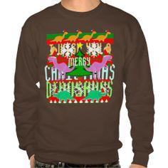 Ugly Christmas Sweater Dinosaurs