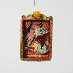 Red Paper Circus Ornament