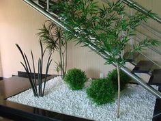 inside garden with stairs Inside Garden, Home And Garden, Small Garden Under Stairs, Small Gardens, Outdoor Gardens, Deco Floral, Interior Garden, Winter Garden, Indoor Plants