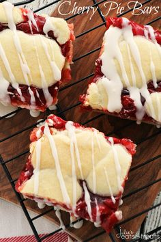 Cherry Pie Bars ~ So