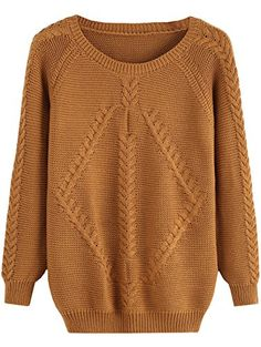 Sheinside Women's Pullovers Cable Knit Solid Loose Sweater (one-size, Color-Khaki) Sheinside http://www.amazon.com/dp/B0183ARLHS/ref=cm_sw_r_pi_dp_Wnsuwb0240YKW
