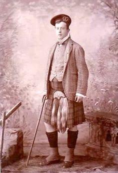 Aberdeen vintage kilt photo