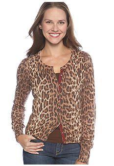 Lucky Brand Cheetah Print Cardigan