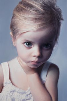 Gottfried Helnwein | Head of a Child 17, mixed media (oil and acrylic on canvas), 2014