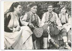 1960s Guslar Fiddle Fiddler Crna Gora Montenegro, vintage old photo postcard