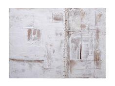 Complicazioni (in un giardino bianco). acrilico, cemento, stoffa, ferro su tavola cm 40 x 30 2011