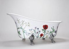 How sweet is this, mosaic tub from Mosaic Sweden