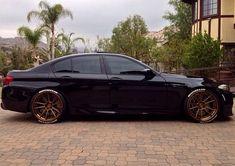Image result for bronze wheels black bmw