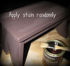 stain on stool