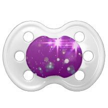 Beautiful purple starburst design by Felicianation Baby Pacifiers