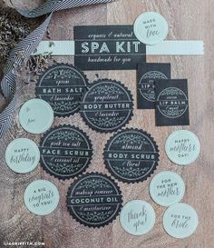 Spa Kit Labels Customized by LiaGriffith on Etsy, $15.00