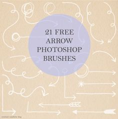 Free Download: Arrow Photoshop Brushes