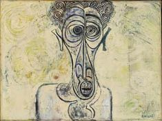 'Self-Portrait of Suffering' by England-based Sudanese artist Ibrahim El-Salahi collection: Iwalewa-Haus, University of Bayreuth, Germany. via the Tate African Paintings, African Artists, Contemporary African Art, Neo Expressionism, Cultural Identity, Art Database, Portrait Inspiration, New Artists, Artist Painting