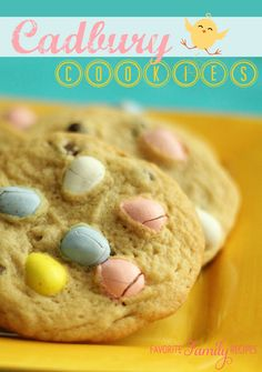 We love these Cadbury Cookies! You can't go wrong adding Cadbury eggs to anything in my opinion and these cookies are to die for! #cookies #easter