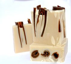 YUM - Almond Natural Soap Chocolate Swirled. $9.50, via Etsy.