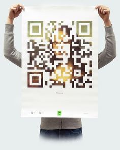 """Poster """"Mona Lisa"""" from the project """"QRtina"""" Mona Lisa, Code Art, Design Research, Qr Codes, Layout Inspiration, Graphic Design Typography, Illustrations Posters, Print Design, Yearbook Design"""