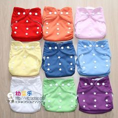Buttons adjusted Baby diaper  breathable wash baby cloth diaper 8pcs/lot mix color free shipping(8 color)