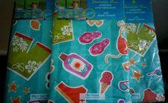 Summer Fun Umbrella Vinyl Tablecloths Zip Closure At the Beach 3 Sizes #ElreneHomeFashions