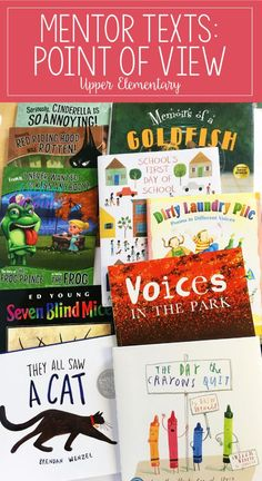 If you are looking for point of view mentor texts or read alouds for teaching point of view, definitely check out this post. This article shares several engaging read alouds with brief summaries and suggestions for how to use them. The post also shares id Reading Lessons, Reading Skills, Teaching Reading, Math Lessons, Guided Reading, Library Lessons, Spanish Lessons, Student Teaching, Learning Spanish