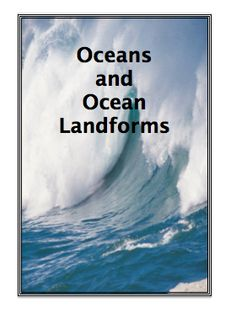Oceans and Ocean Landforms - This unit provides everything you need to teach a unit on oceans and ocean landforms. .  A GIVEAWAY promotion for Oceans and Ocean Landforms from Inspire the Love of Learning on TeachersNotebook.com (ends on 1-11-2015)