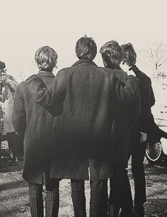"""{Four Lads From Liverpool}, """" 'We were always waiting to see who was going to be bigger than The Beatles, and it was The Beatles'. """" -Paul McCartney"""