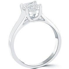 1-06-Carat-D-SI1-Princess-Cut-Diamond-Solitaire-Engagement-Ring-14k-White-Gold Solitaire Diamond, Solitaire Engagement, Princess Cut Diamonds, White Gold, Wedding, Ebay, Jewelry, Valentines Day Weddings, Jewlery