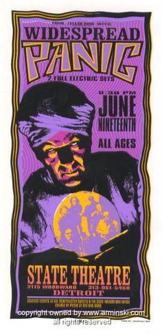 1996 Widespread Panic - Detroit Concert Handbill - Arminski