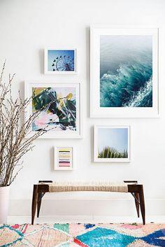 mur tableau déco tapis sol comment accrocher un tableau Foyer Decorating, Decorating Small Spaces, Interior Decorating, Interior Design, Decorating Ideas, Decor Ideas, Art Ideas, Inspiration Wand, Photowall Ideas