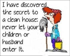woman an house cleaning