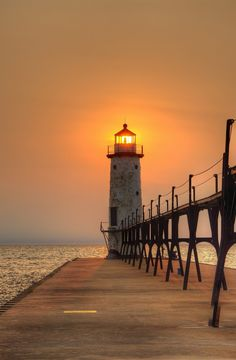 Manistee Pier Light, MI, USA-funny how you appreciate things when you move away Lake Michigan, Michigan Travel, Manistee Michigan, Manistee River, Michigan Usa, Northern Michigan, Grand Canyon, Lighthouse Pictures, Beacon Of Light