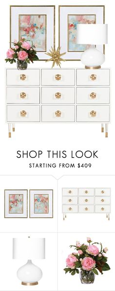 """White Home"" by noticeably-subtle ❤ liked on Polyvore featuring interior, interiors, interior design, home, home decor, interior decorating, Emporium Home and Lux-Art Silks"