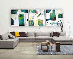Large Original Painting I love this day Authentic by MirnaSisul