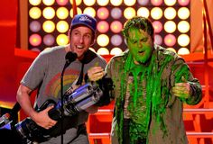 Pin for Later: See Stars Get Slimed at the Kids' Choice Awards!  You could tell Adam loved every minute of it.