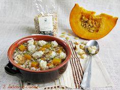 Zuppa di Legumi e Cereali con Zucca e Crostini Piccanti   2 Amiche in Cucina